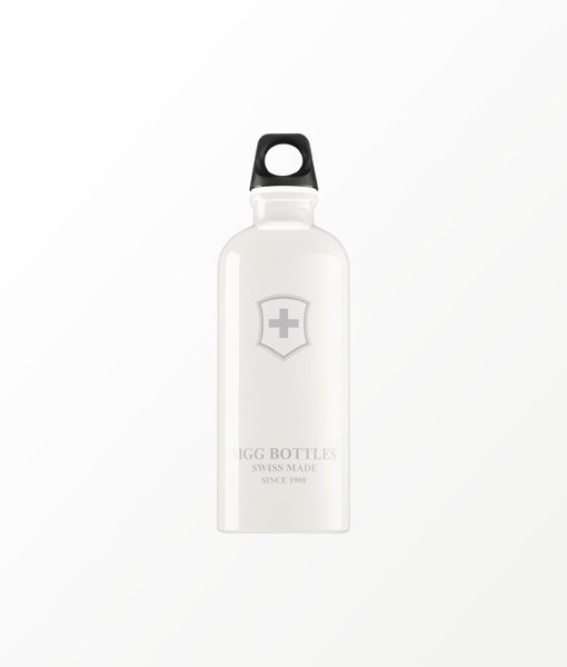 SIGG waterfles wit swiss emblem 0.6 liter