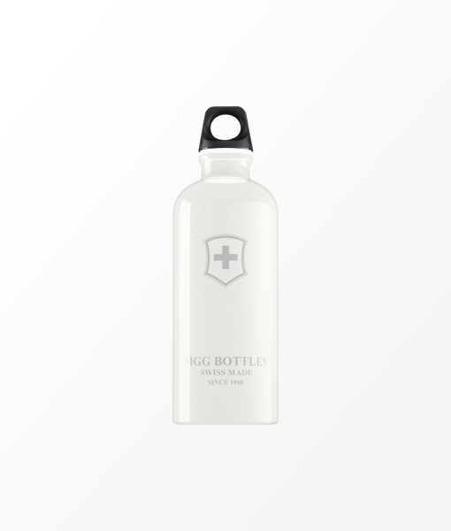 SIGG waterfles wit swiss emblem 0.6 liter