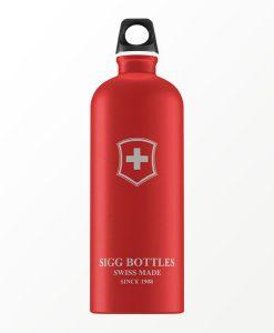 SIGG waterfles swiss emblem rood 1.0 liter