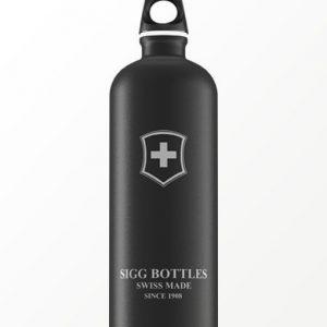 SIGG waterfles swiss emblem zwart 1.0 liter