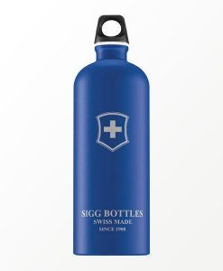 SIGG waterfles swiss emblem touch blauw 1.0 liter