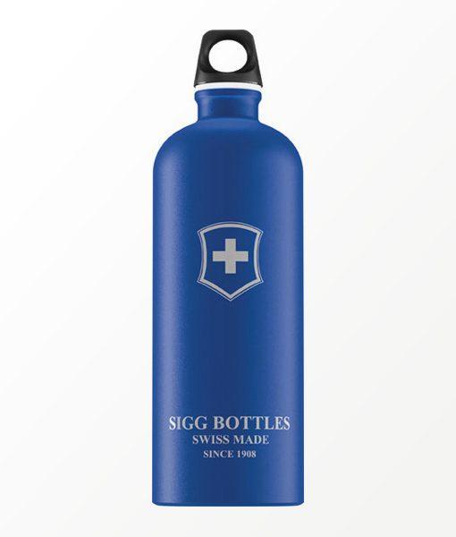 SIGG waterfles swiss emblem touch blauw 1.0 liter